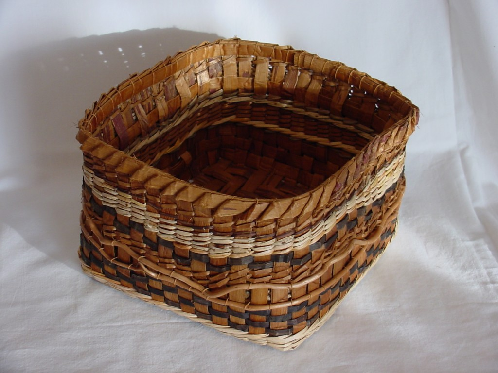 How To Weave A Cedar Basket : Contemporary cedar bark baskets woven fire